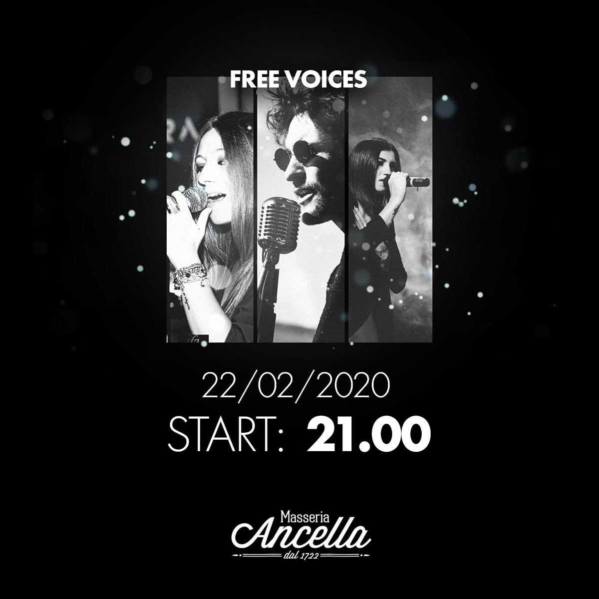 """Cena e musica live con i """"Free Voices"""""""